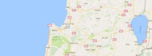 מפת חיפה והקריות