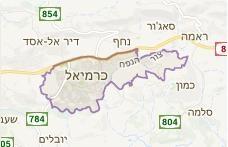 מפה עבור שירות מנעולן בכרמיאל