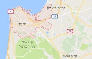 מפת חיפה לשירותי מנעולן